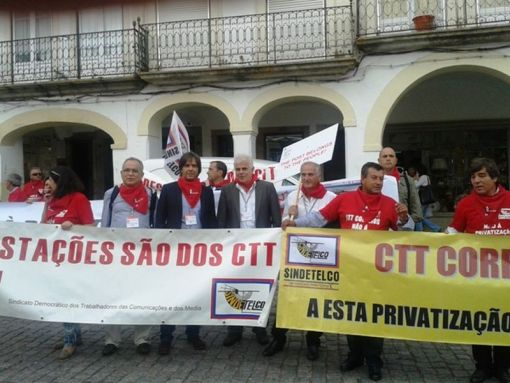 THE GREEK POSTAL WORKERS SAID NO IN THE PRIVATIZATION OF THE POSTAL OFFICES IN PORTUGAL